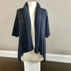 Theory like new drk gray lagenlook sweater M/L